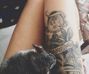 tattoo, rabbit, and animal image