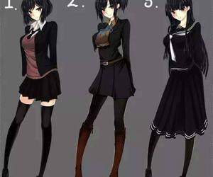 girl fashion, anime girls, and cute anime girls image