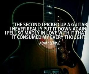 guitar, music, and adam levine image