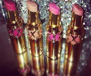 lipstick, pink, and make up image