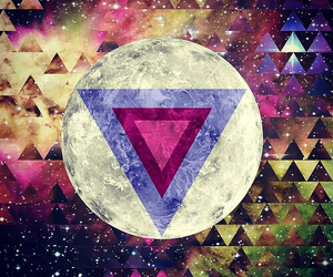 hipster, wallpaper, and moon image
