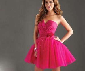 dress, sexy, and pink image