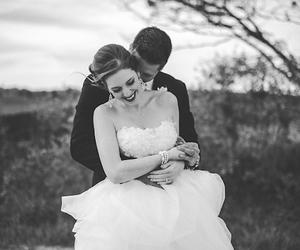 wedding, beautiful, and couple image