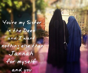 sister, together, and jannah image