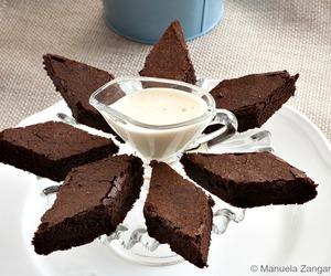 cake, chocolate, and zabaglione image