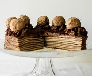 cake, tiramisu, and coffee image