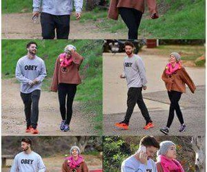 miley cyrus, patrick schwarzenegger, and patley image