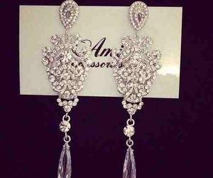 diamond, earrings, and fancy image