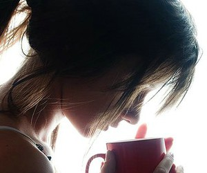 girl, coffee, and tea image