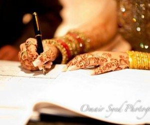 bride, islam, and marriage image