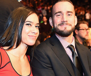 cm punk, aj lee, and wwe image