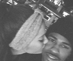 black and white, big sean, and ariana grande image