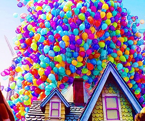 balloons, bright, and roof image