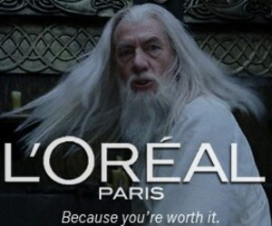 albus dumbledore, funny, and l'oreal image