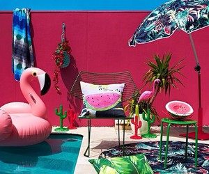 decor, flamingo, and mexican image