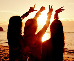 love, friends, and girl image