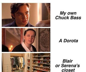 blair, gossip girl, and serena image