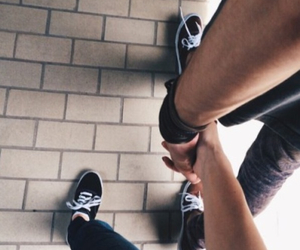 alternative, couple, and holding hands image