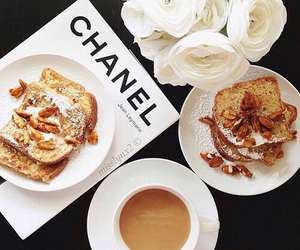 chanel, coffee, and breakfast image