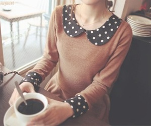 coffee, sweet, and collar image