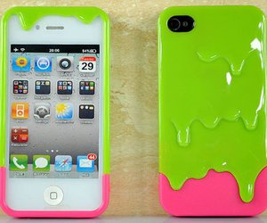 iphone, green, and pink image