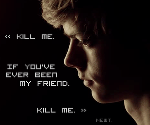 newt, the maze runner, and thomas brodie-sangster image