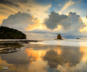 beach, sunset, and national geographic image