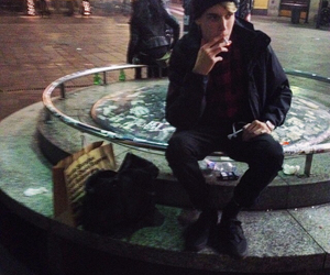 american apparel, cigarette, and grunge image