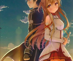 anime, kirito, and sword art online image