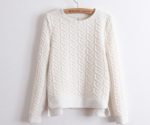 bianco, fashion, and pullover image