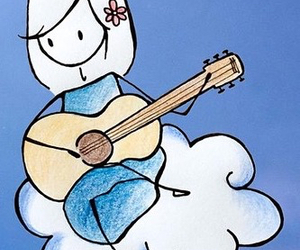 cloud, guitar, and play image