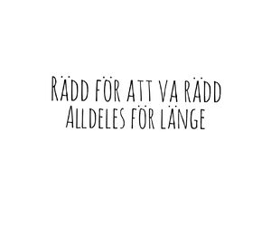 swedish, citat, and rädd image