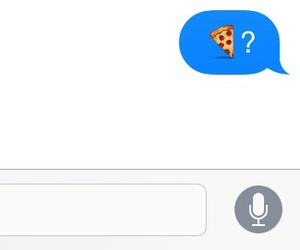 pizza, food, and imessage image
