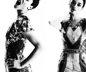 black and white and crystal reed image