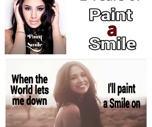 jasmine villegas, jasmine v, and paint a smile image