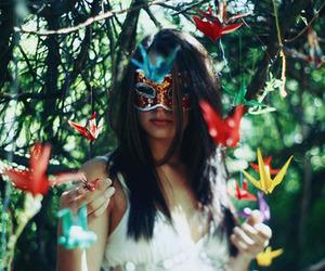 girl, mask, and photography image