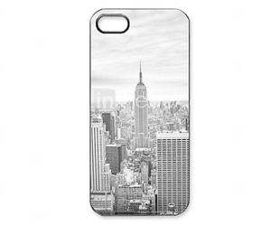 black and white, case, and empire state building image