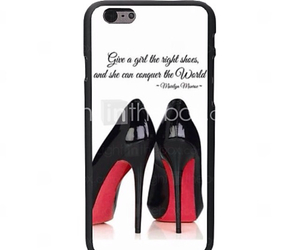 black, case, and high heels image