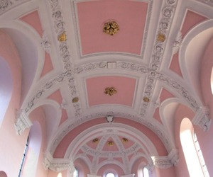 ceiling, cool, and pink image