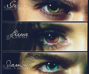 the vampire diaries, tvd, and eyes image