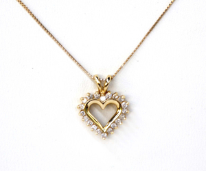 diamond, gold, and heart image