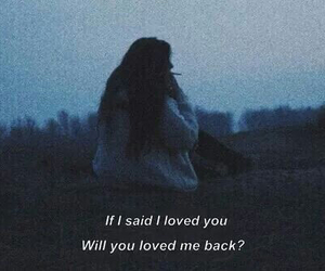 love, sad, and quote image