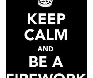 black, calm, and firework image