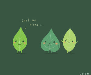 alone, funny, and leaves image