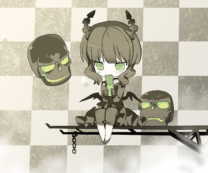 anime, chibi, and black rock shooter image