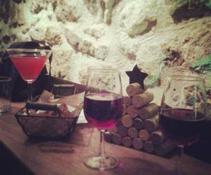 crete, sparkling wine, and christmas image