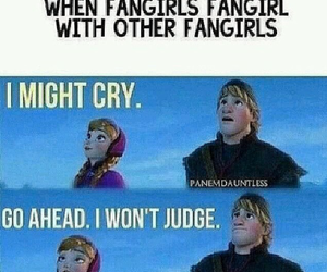 fangirl, frozen, and fandom image