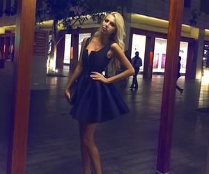 girl, dress, and heels image