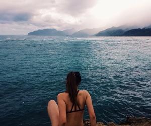beach, sea, and fashion image