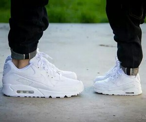 air max, nike, and white image